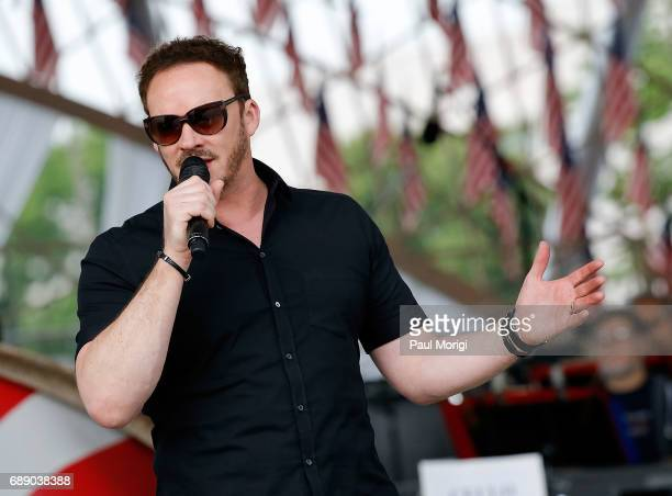 Crossover artist Russell Watson rehearses for PBS' 2017 National Memorial Day Concert Rehearsals at US Capitol West Lawn on May 27 2017 in Washington...