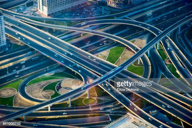 Crossroad in Dubai