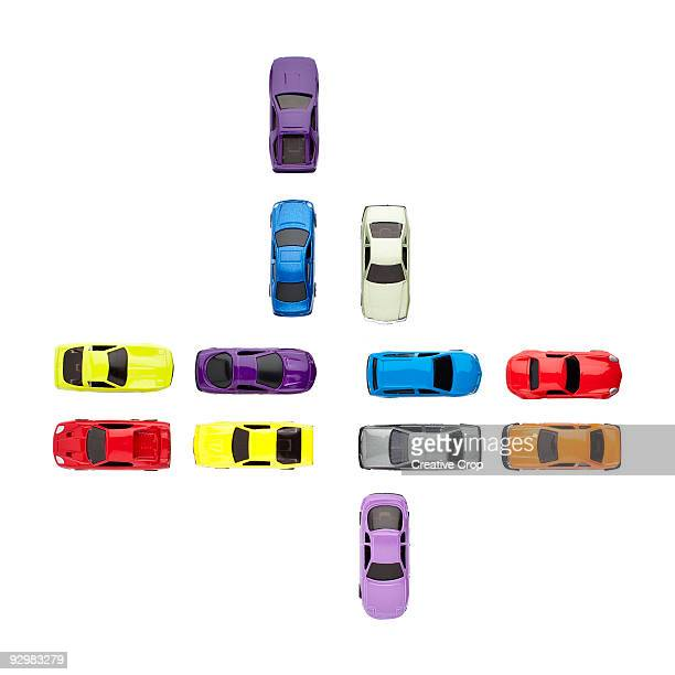 Crossroad of toy cars