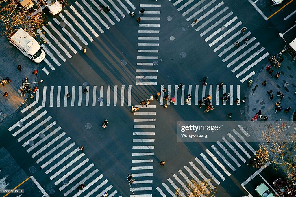 crossroad : Foto stock