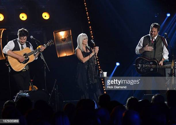 Crossroads debuts September 20 at 8pm est staring Mumford Sons and Emmylou Harris L/R Marcus Mumford Emmylou Harris and Jerry Douglas recorded at The...