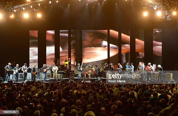 Crossroads Guitar Festival artists and Eric Clapton perform at Madison Square Garden on April 13 2013 in New York City