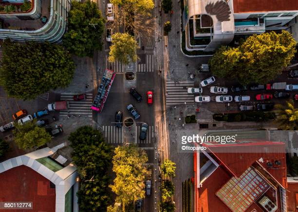 crossroads in mazarik polanco mexico - mexico city stock pictures, royalty-free photos & images