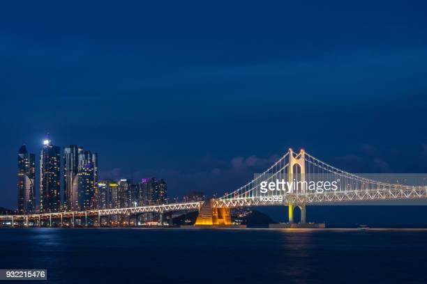 Cross-sea bridge and Modern City night view