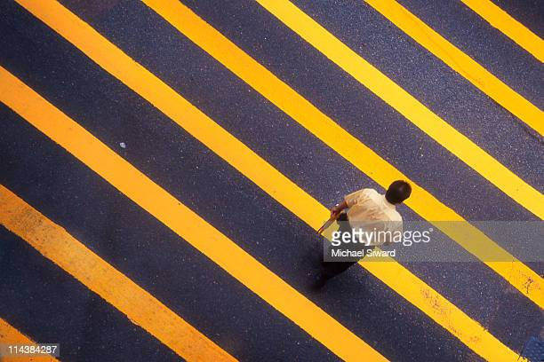 crosswalk - michael siward stock pictures, royalty-free photos & images