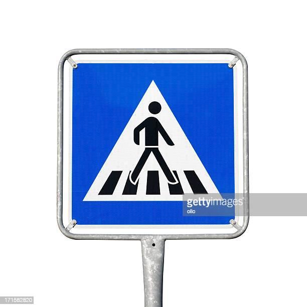 Fußgängerübergang Schild, Zebrastreifen