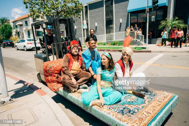 Crosswalk the Musical Aladdin with Will Smith Naomi Scott and Mena Massoud on The Late Late Show with James Corden airing Thursday May 23 2019
