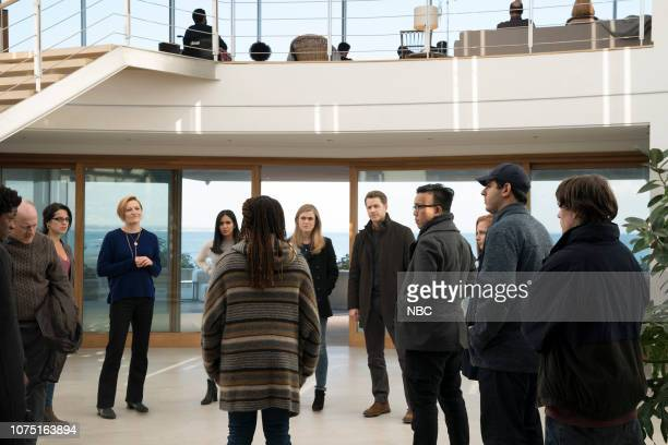 MANIFEST 'Crosswinds' Episode 110 Pictured Jared Grimes as Adrian Frank Deal as Captain Bill Daly Shirley Rumierk as Autumn Cox Francesca Faridany as...