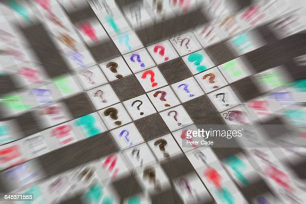 Crossword of question marks