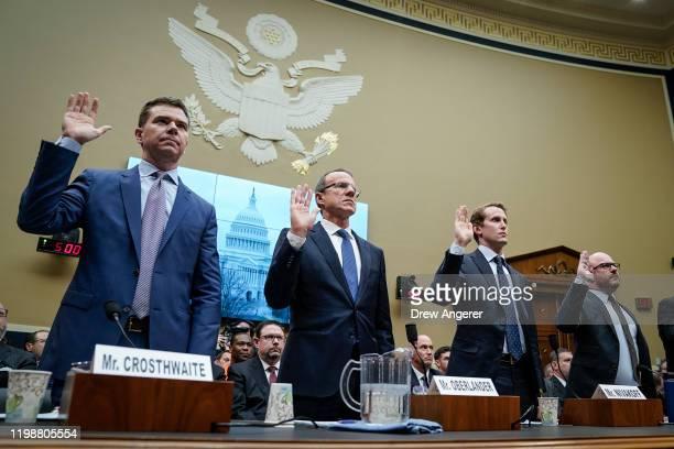 Crosthwaite, CEO of JUUL Labs, Ricardo Oberlander, President and CEO of Reynolds American Inc., Ryan Nivakoff, CEO of NJOY LLC, and Antoine Blonde,...