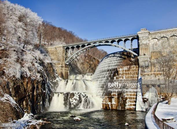 croton dam in winter - phil haber stock pictures, royalty-free photos & images