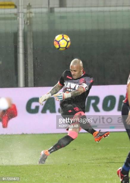 STADIUM CROTONE CALABRIA ITALY Crotone's Italian goalkeeper Alex Cordaz kicks the ball during the Italian Serie A football match FC Crotone vs...