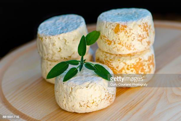 Crottin - French artisanal cheese made in Ukraine, with sage