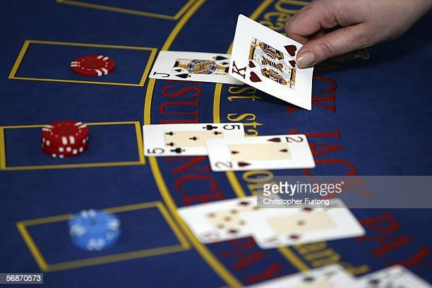 A croupier deals cards on a Black Jack table on February 17 Blackpool England Blackpool and The Fylde College has become the first educational...
