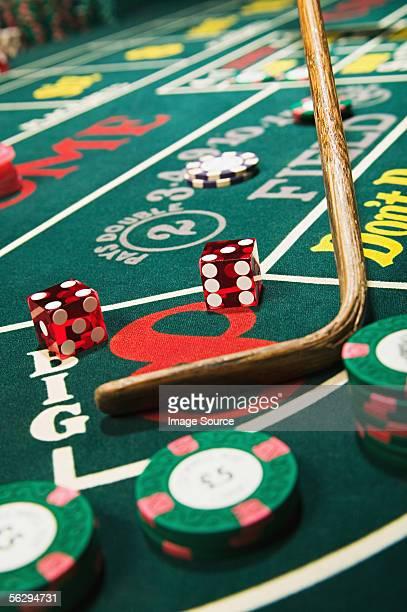 カジノスティッククリアリングクラップスのテーブル