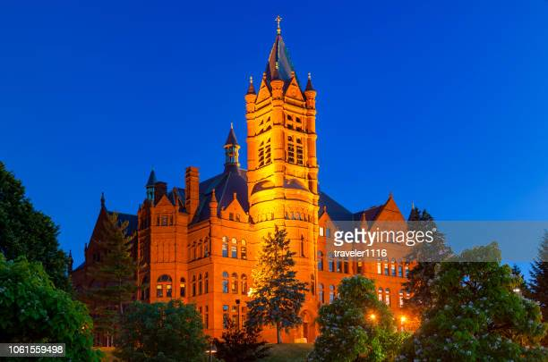 crouse college at syracuse universtiy - syracuse new york stock pictures, royalty-free photos & images