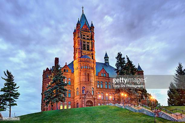 crouse college syracuse university - syracuse new york stock pictures, royalty-free photos & images