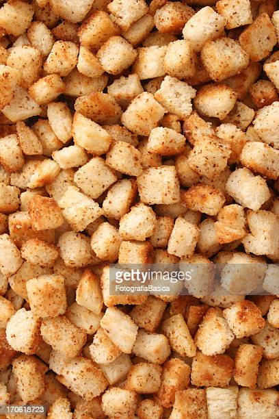 croutons background - crouton stock photos and pictures