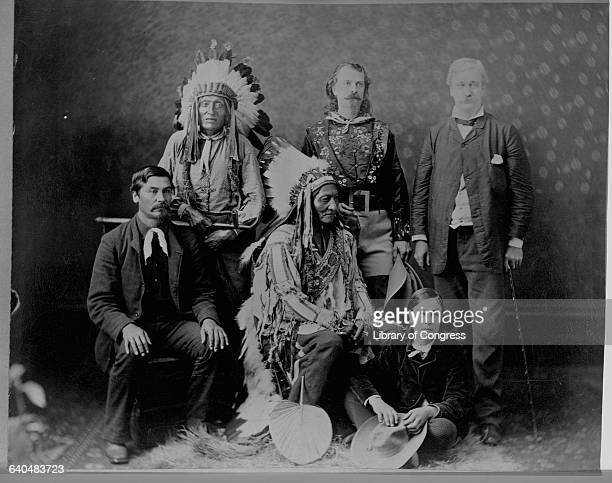 Crow Eagle Sitting Bull Buffalo Bill WHH Murray and others ca 1880