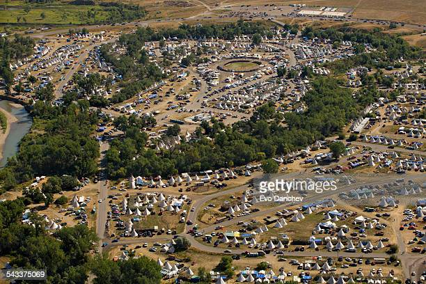 crow fair - the tipi capital of the world - battle of little big horn stock photos and pictures