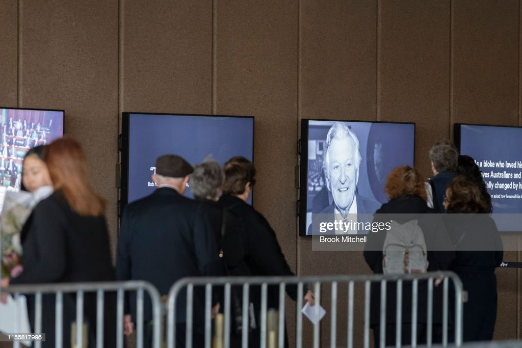 State Memorial Service For Former Australian Prime Minister Bob Hawke : News Photo