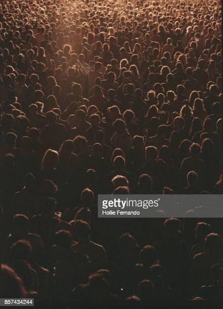 crowd at a festival - crowd stock pictures, royalty-free photos & images