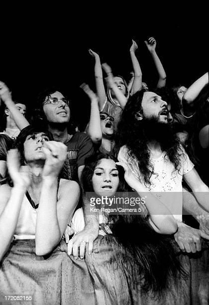 Crowd at a Rolling Stones concert is photographed on Mick Jagger's birthday in 1972 at Madison Square Garden in New York City CREDIT MUST READ Ken...
