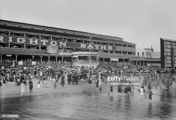 Crowd at Beach Brighton Beach New York USA Bain News Service 1915