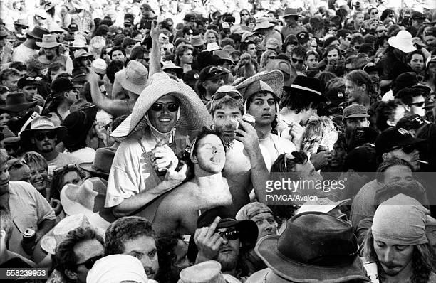Crowd at Bindoon Festival WAustralia 1990s