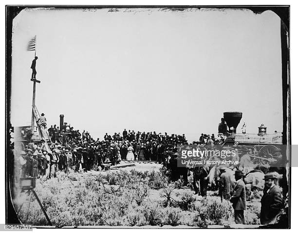 Crowd at Completion of the TransContinental Railroad Promontory Utah 1869