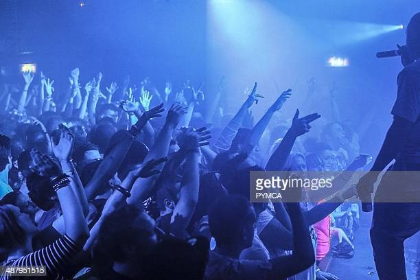 Crowd at Fabric nightclub, Farringdon, London.