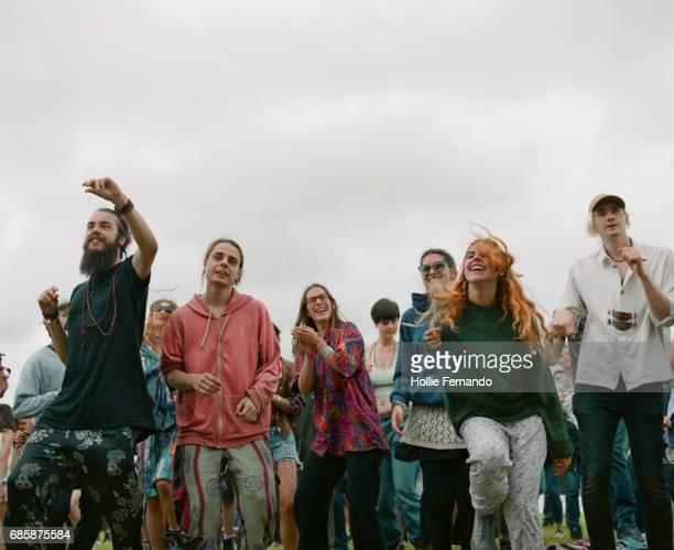 Crowd At Festival Dancing