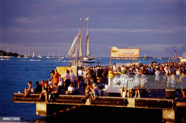 Crowd at Mallory Square in Key West