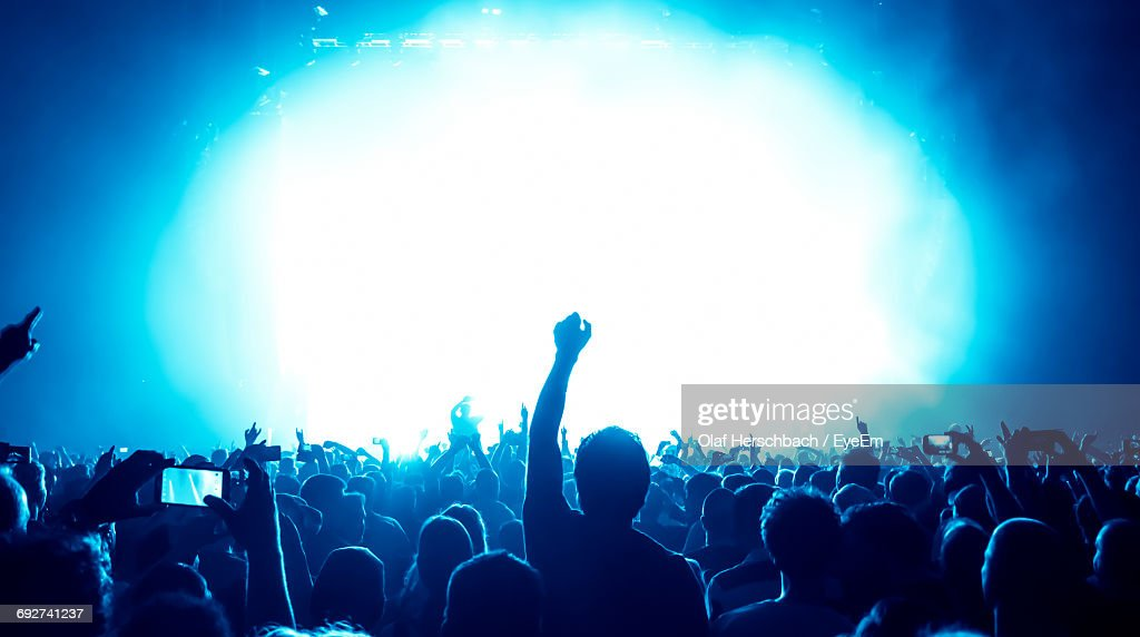 Crowd At Music Concert : Stock Photo