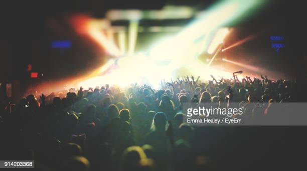 crowd at music concert - live event stock pictures, royalty-free photos & images
