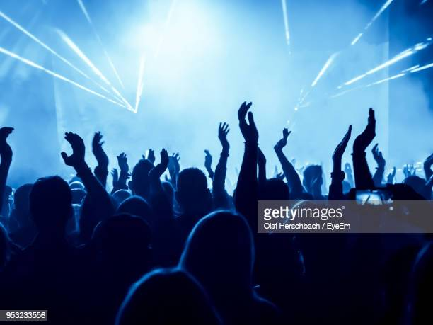 crowd at music concert - music festival crowd stock pictures, royalty-free photos & images