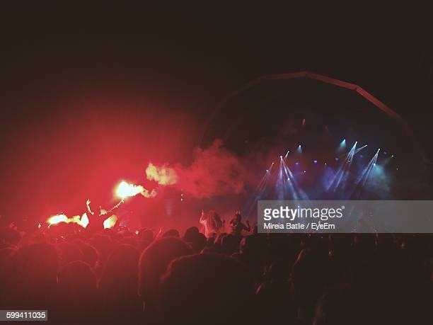 Crowd At Music Festival At Night