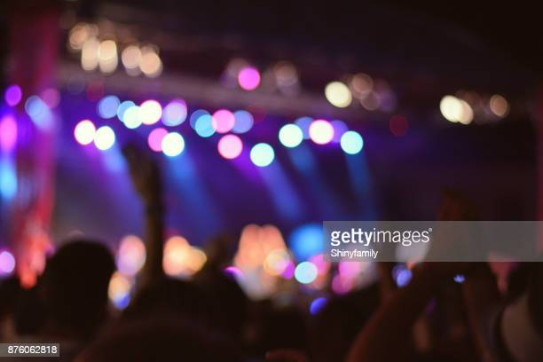 crowd at music festival. rock concert. - entertainment club stock pictures, royalty-free photos & images