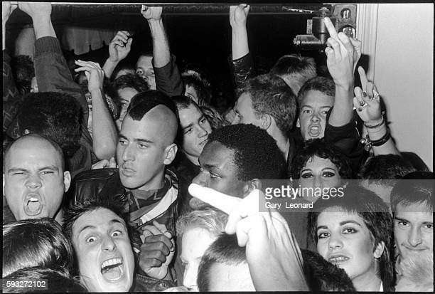 Crowd at Punk Show Inside Baces Hall