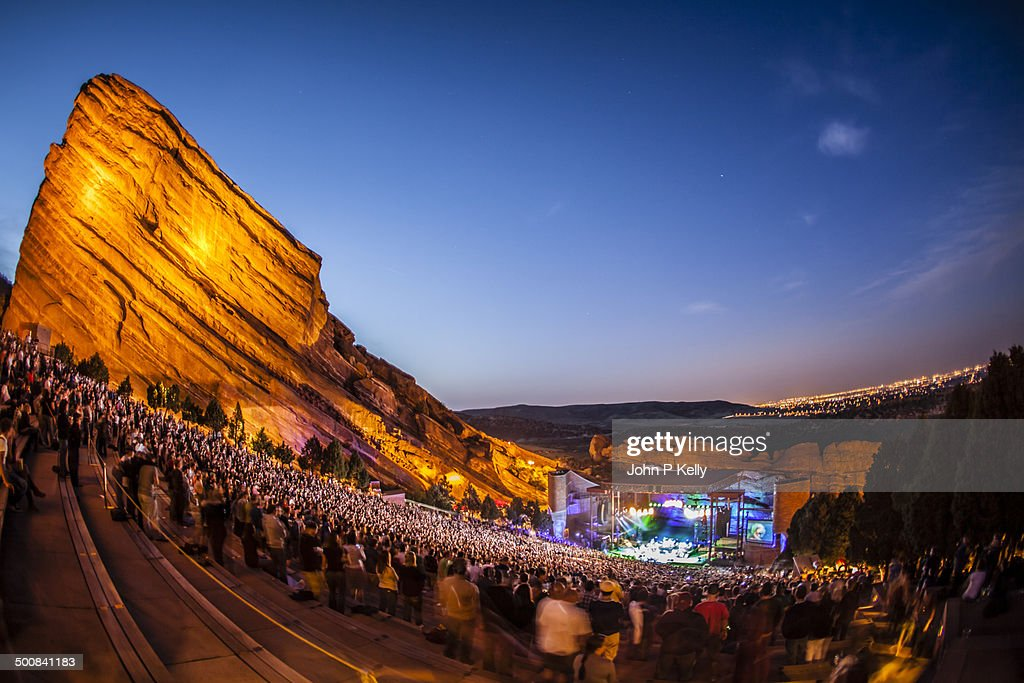 Crowd at Red Rocks Amphitheatre in Morrison, Co : Stock Photo