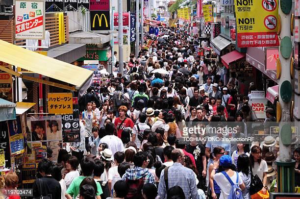 Crowd at Takeshita street, Harajuku, Shibuya Ward, Tokyo Prefecture, Japan