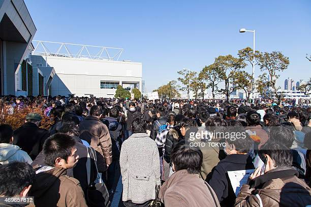 crowd at the 85th comic market - tokyo big sight stock photos and pictures