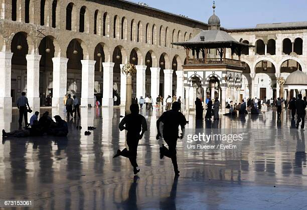 Crowd At Umayyad Mosque