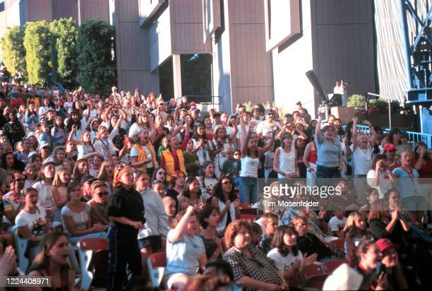 Crowd atmosphere during Lilith Fair 1999 at Shoreline Amphitheatre on July 31, 1999 in Mountain View, California.