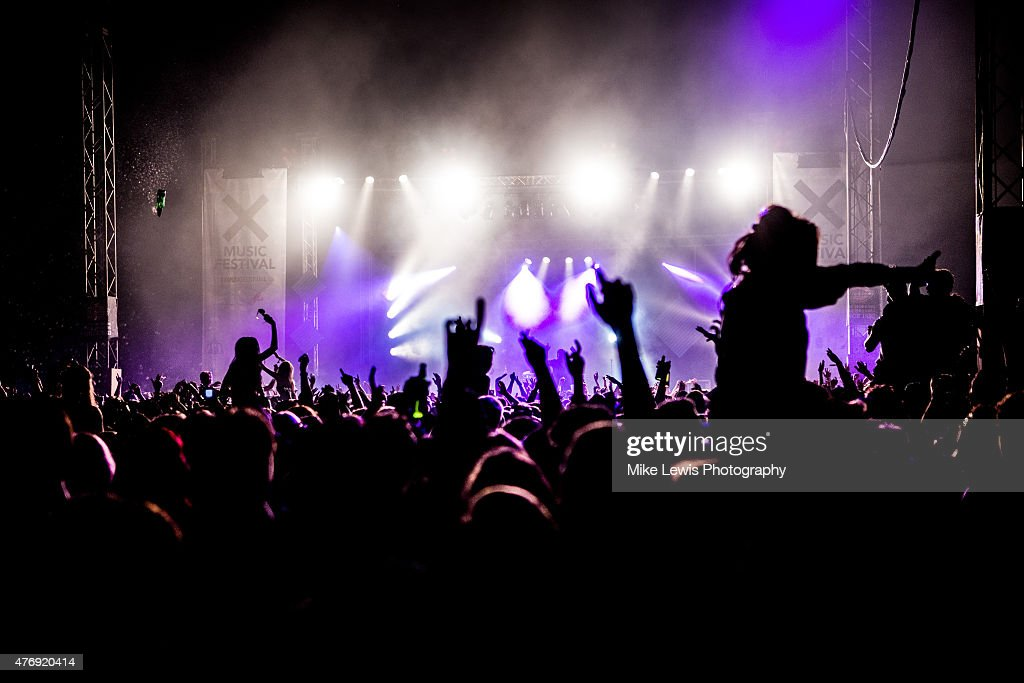 Crowd atmosphere during X Music Festival at Bute Park on June 12, 2015 in Cardiff, United Kingdom