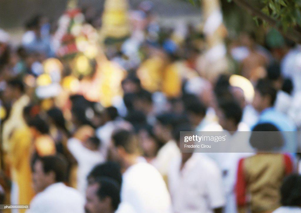 Crowd, blurred : Stockfoto