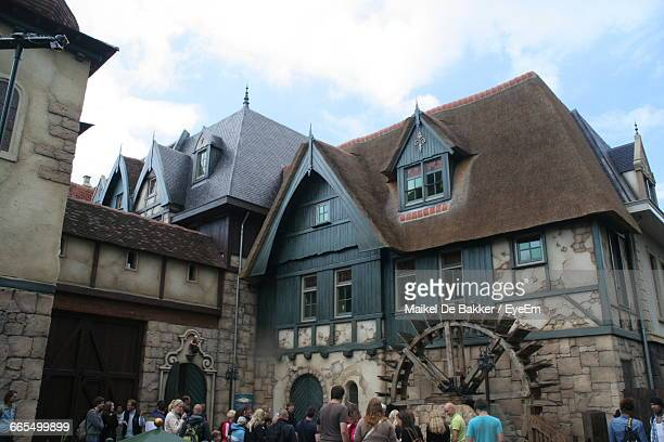 Crowd By Building At Efteling