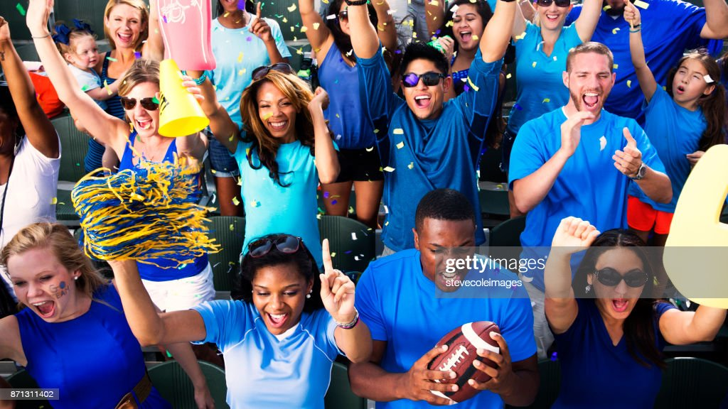 Crowd Cheering : Stock Photo