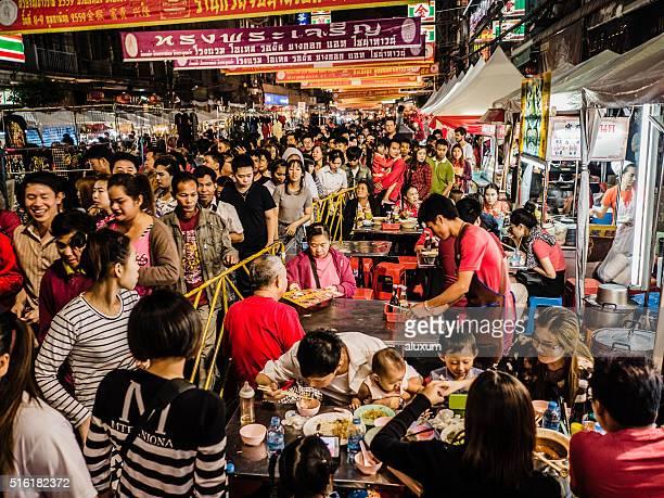 Foule nouvel an chinois, le quartier chinois de Bangkok