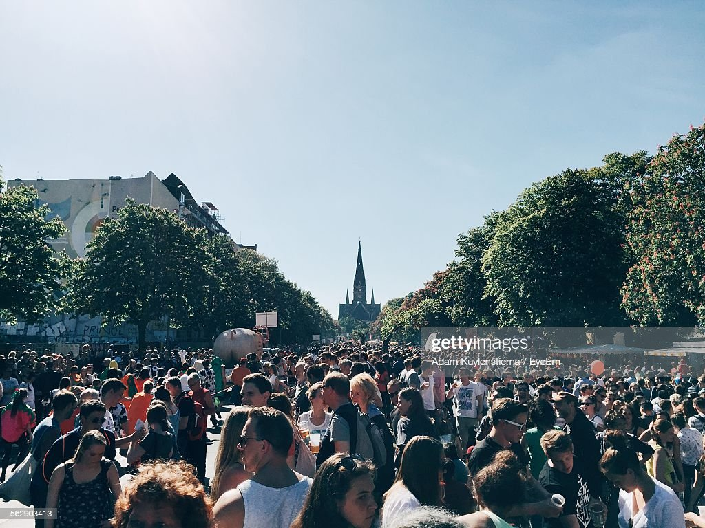 Crowd During Carnival Of Cultures 2015 In Berlin : Stock Photo